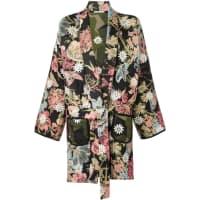 Ermanno Gallamininature print reversible kimono