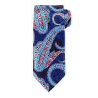 Ermenegildo ZegnaLarge-Paisley-Print Silk Tie