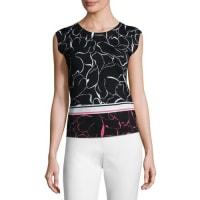 EscadaRelief Floral-Print Knit Tank, Fantasy