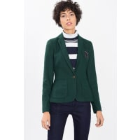 EspritBlazer in Strick-Optik mit Ellbogen-Patches für Damen Bottle Green