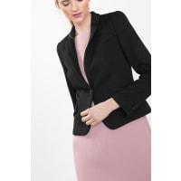 EspritHeavy jersey blazer met reliëf Black for Women