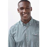 EspritGeruit buttondownoverhemd, 100% katoen Bottle Green for Men