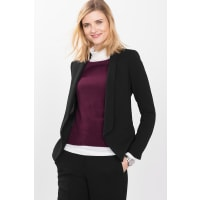 EspritCrepe Blazer mit Smoking-Revers für Damen Black