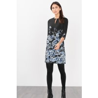 EspritCrêpe jurk met bloemenprint Black for Women