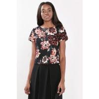 EspritCropped Shirt-Bluse aus Piqué-Gewebe für Damen Black