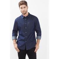 EspritDenim overhemd van 100% katoen Blue Dark Washed for Men