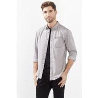 EspritDenim-Hemd aus 100% Baumwolle für Herren Grey Medium Washed