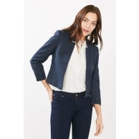 EspritESPRIT COLLECTION Indoor Strukturjacke, blau, NAVY