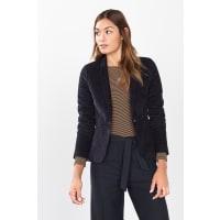 EspritFeincord-Blazer aus Baumwolle/Stretch für Damen Navy