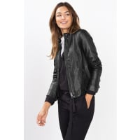 EspritFeminine Biker-Jacke aus softem Leder für Damen Black