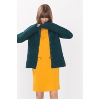 EspritZacht bouclé vest Dark Teal Green for Women