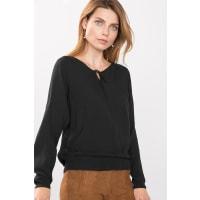 EspritSoepele blouse met volant aan de zoom Black for Women