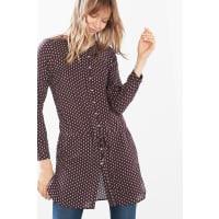 EspritFließende Long-Bluse mit Print für Damen Bordeaux Red