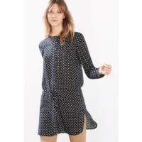 EspritFließende Long-Bluse mit Print für Damen Navy