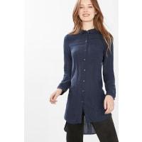 EspritSoepele, lange blouse met strepen Navy for Women