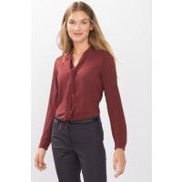 EspritSoepele blouse met strik en ruitenstructuur Terracotta for Women