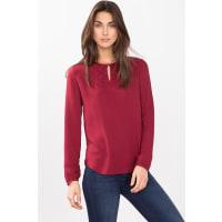 EspritFließende Strutur-Bluse mit Stickerei für Damen Garnet Red