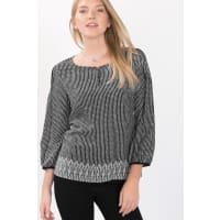 EspritFließende Tunika-Bluse mit Minimal-Print für Damen Black