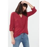 EspritFließende Turn-up-Bluse für Damen Dark Red