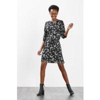 EspritSoepele jurk met vleermuismouwen Black for Women