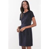 EspritJacquard jurk met grafisch patroon Navy for Women