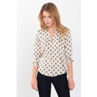 EspritSatijnen blouse met print Off White for Women
