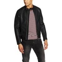 Espritim Biker Stil - Regular Fit, Chaqueta Hombre, Negro (BLACK), X-Large