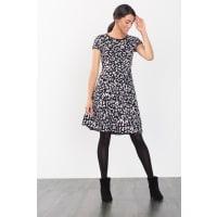 EspritJacquard-Strickkleid aus Baumwoll-Mix für Damen New Black