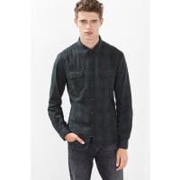 EspritGeruit overhemd, 100% katoen Olive for Men