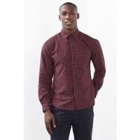 EspritRobuust, geruit overhemd, 100% katoen Dark Red for Men