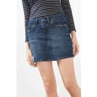 EspritNieten-verzierter Jeans-Rock für Damen Blue Medium Washed