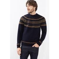 EspritNordic Pulli aus warmem Strick mit Wolle für Herren Navy