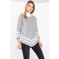 EspritPoncho-Sweater aus Baumwolle für Damen Medium Grey