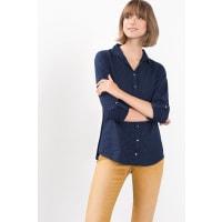 EspritPrinted blouse van een lichte katoenmix Navy for Women