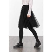 EspritSchwingender Midirock aus softem Mesh für Damen Black