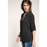 EspritZachte crêpe hemdblouse Black for Women