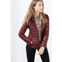 EspritLichte donzen jas met drukknopen Bordeaux Red for Women