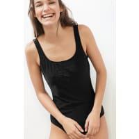 EspritSportiver Badeanzug mit tonigem Logo für Damen Black