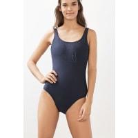 EspritMaillot de bain sportif à logo ton sur ton Navy pour Femmes