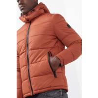 EspritSteppjacke mit Zipp-off-Kapuze für Herren Rust Orange