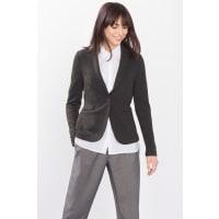 EspritStretch-Blazer aus dichtem Melange-Jersey für Damen Dark Khaki