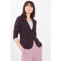 EspritStretch-Blazer aus dichtem Melange-Jersey für Damen Garnet Red