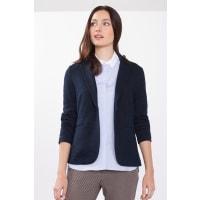 EspritStretch-Blazer aus dichtem Melange-Jersey für Damen Navy