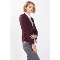 EspritStretch-Blazer mit edlem Schimmer für Damen Bordeaux Red