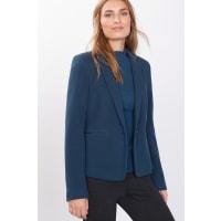 EspritStrick-Blazer mit Reliefstruktur für Damen Petrol Blue