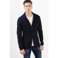 EspritStrick Blazer mit Struktur, 100% Baumwolle für Herren Black
