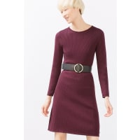 EspritJurk met diverse ribbreisels Bordeaux Red for Women