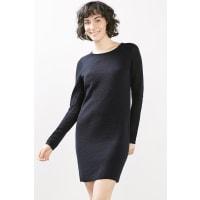 EspritGebreide jurk met modieuze structuurmix Ink for Women