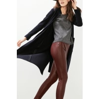 EspritTreggings in softer Leder-Optik für Damen Bordeaux Red