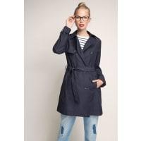 EspritTrenchcoat aus glatter Baumwolle für Damen Navy